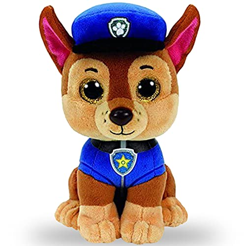 Tomicy Paw Dog Patrol Chase Peluche Patrulla Canina Chase, Cachorro de 15 cm Felpa Figura