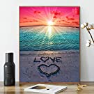 Kimily DIY Paint by Numbers for Adults Kids Beach Sunset Paint by Numbers Beach DIY Painting Sunset Beach Acrylic Paint by Numbers Painting Kit Home Wall Living Room Bedroom Decoration Beach Sunset