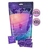 Paquet de 100 préservatifs VIBRATISSIMO « Mix » extra lubrifiés pour des sensations pures et naturelles