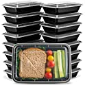 20-Pack Ez Prepa Single Compartment Meal Prep Containers, 28oz