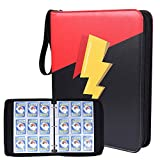 NeatoTek Double Sided 40 Pages 9 Pocket Binder Compatible with Pokemon Cards, Portable Storage Case with Removable Sheets Holds Up to 720 Cards-Toys Gifts for Boys Girls
