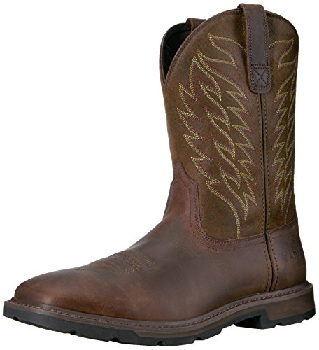 Ariat Men's Groundbreaker Boot, Brown, 10.5 2E US