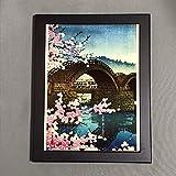 川瀬巴水 錦帯橋の春 フォトタイル木製フレーム付き ギャラリー