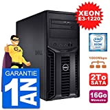 Dell Serveur PowerEdge T110 II Xeon QuadCore E3-1220 16Go 2To Perc H200 SATA (Reconditionné)