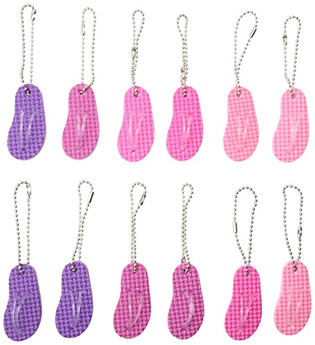 Fun-Filled Birthday Party Flip Flop Keychains Favour, Plastic , Pack Of 12