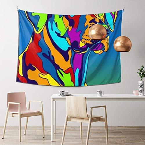 N/A – Decoración de pared psicodélico, manta de playa, tapiz indio de pared de 106 x 152 cm, estilo colorido de plumas de Rey León indio blanco