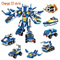 Qomalaya 700 PCS Robot STEM Toy Fun Creative Set 8 in 1 Engineering Building Blocks Construction Building Bricks Toy kit - for Boys Tight Fit and Compatible with All Major Brands by Shantou Zhishi Daily Necessities Technology Co., Ltd.