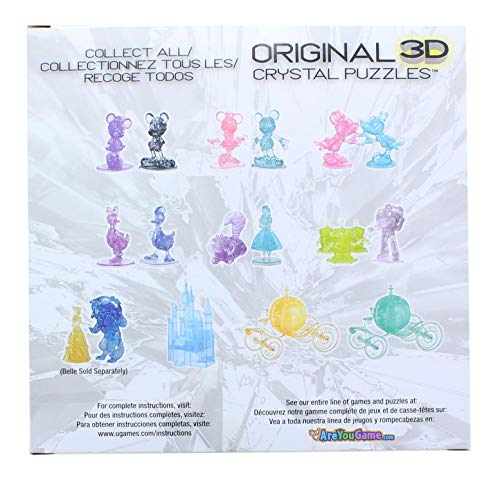 Bepuzzled Sven The Reindeer Frozen Deluxe Original 3D Deluxe Licensed Crystal Puzzle - Fun Yet challenging Brain Teaser That Will Test Your Skills and Imagination, for Ages 12+