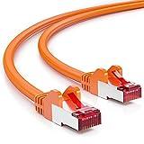 deleyCON 25m CAT6 Cable de Red - S/FTP PIMF Blindaje Cat-6 RJ45...