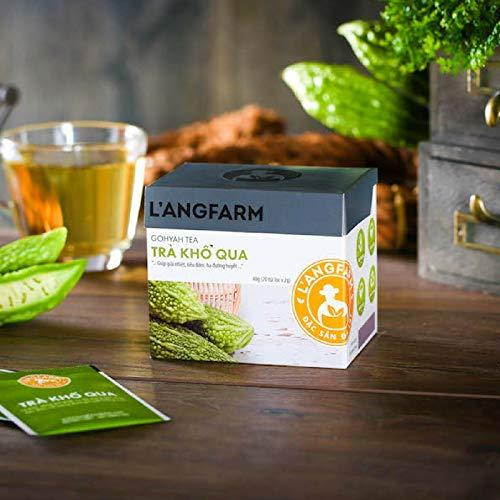 02 Boxes 20 bags - Tea Box Bitter melon tea Filter Bag - Tra Kho Hoa, Muop Dang Tui Loc Langfarm