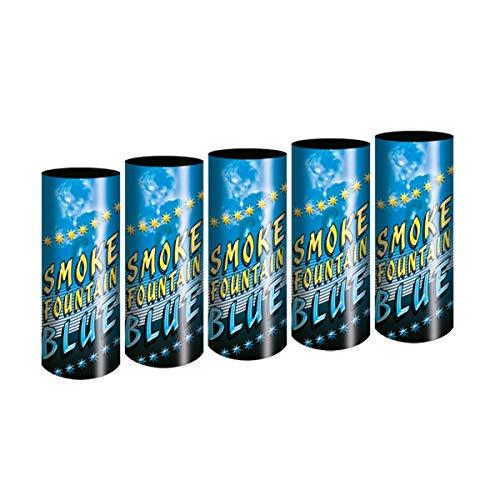 5 Stück Bengalo Rauch Vulkan Fontäne Party Feuerwerk Rauchfarbe blau/Ganzjahresfeuerwerk Kat T1/F1