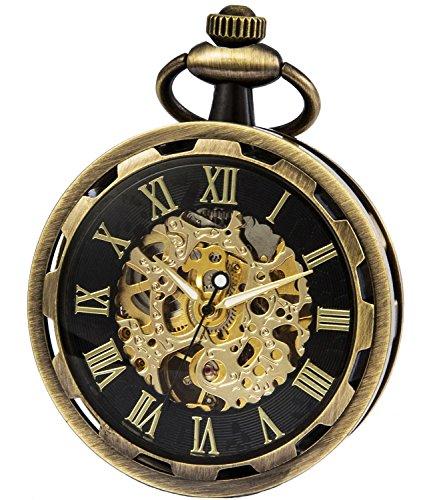 SEWOR unico volto vento meccanico della mano orologio da tasca (Ottone)