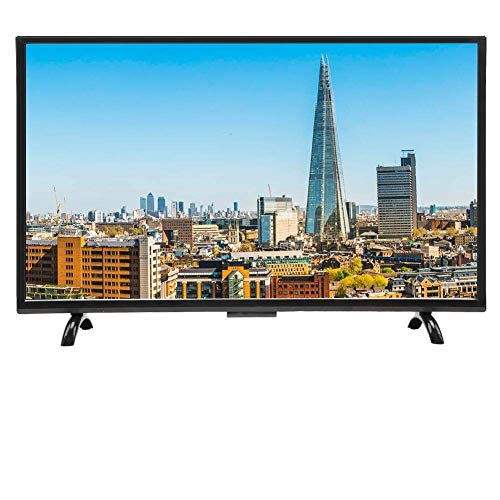 Regalo De Abril Smart TV de Pantalla Curva Grande de 43 Pulgadas, 3000R Curvature 4K HDR HD TV versión de Red(EU)