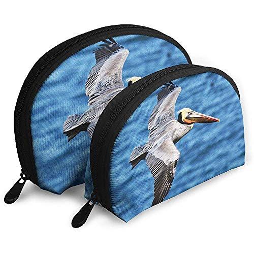 Eastern Brown Pelican Tragbare Taschen Kosmetiktasche Kulturbeutel, Multifunktions-Tragbare Reisetaschen Kleine Make-up-Clutch-Tasche mit Reißverschluss