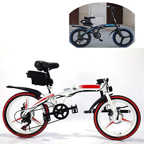 NYPB Bicicleta Eléctrica Plegables, Bici Electricas Adulto con Ruedas de 20 Pulgadas,...