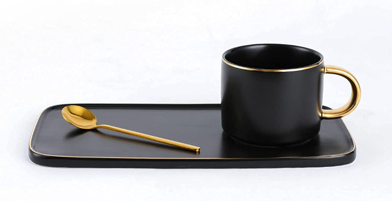 Coffee Mug set Tea Cup Gift Popular brand Arlington Mall and spoon with Lux Set saucer