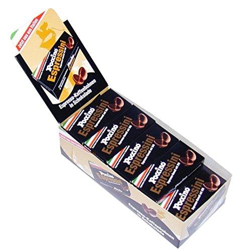 POCCINO Espressini schokolierte Espressobohnen Display á 20 x 25 g Schachtel