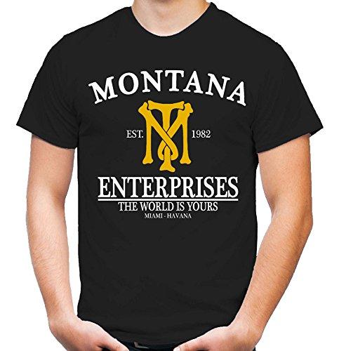 Montana Enterprises T-Shirt | Mafia | Tony | Scarface | Al Pacino | Cocaine (XXL)