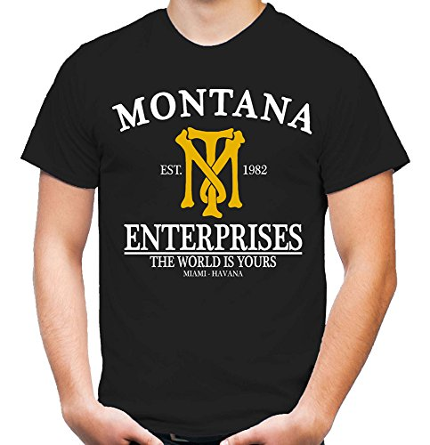 Montana Enterprises T-Shirt | Mafia | Tony | Scarface | Al Pacino | Cocaine (XL)