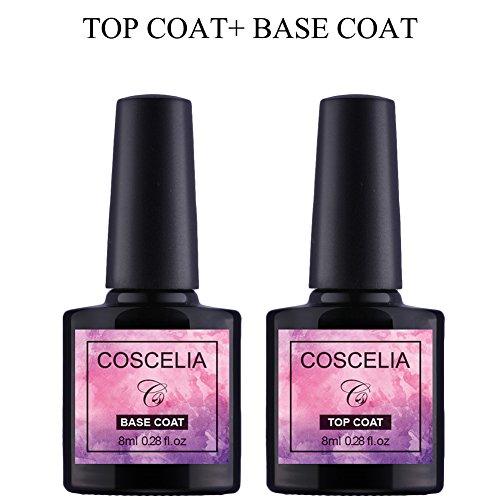 Saint-Acior UV Nagellack Top Coat & Base Coat Primer Unterlack Überlack Set Gel LED Nail polish...