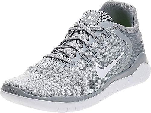 Nike Women's Free RN 2018 Running Shoe (8 M US, Wolf Grey/White/Volt)