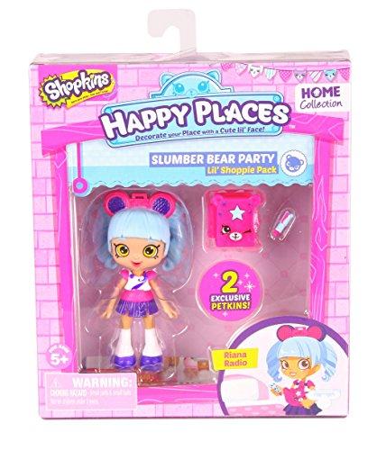 Moose Toys Shopkins Happy Places Lil' Shoppie Pack: Riana Radio, Slumber...