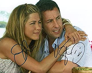 Photo Just Go With It - Jennifer Aniston & Adam Sandler Signed Autographed 8 x 10