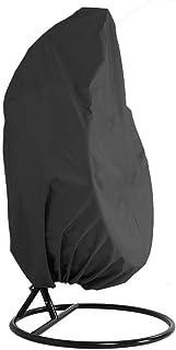 Marrone Base in Acciaio Sedia Sospesa blumfeldt Serramazzoni Materiale Cotone//Poliestere Egg Chair Altezza Regolabile 55-70 cm Morbida Imbottitura Sedia da Giardino