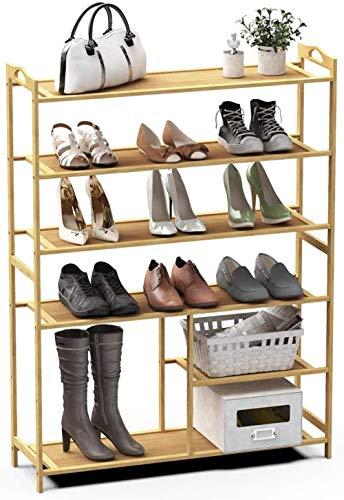 A-Generic Rack de Zapatos 4 Niveles de Zapatos de bambú Organizador de Almacenamiento-6 Nivel