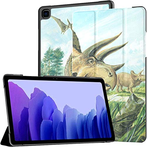 Triceratops Planteater Largest Horned About 20 Galaxy Tab A7 10.4 2020 Case Galaxy Tab A7 10.4 Inch Tablet Case Tablet With Case With Auto Wake/sleep Fit Samsung Galaxy Tab A7 10.4 2020 Case For Gala
