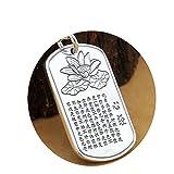 Aeici Collar Colgante Collar Plata Collar para Hombres Mujer Plata Esterlina Collar de Buda Hou-75Cm