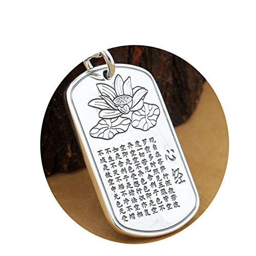 Epinki Plata de Ley 925 Mujer Hombre Collar Buda Colgante Budismo Delgado-A92 Joyeria de Boda