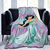 Alad-din Princ-ess Jasm-ine Blankets Throws for Couch, Super Soft Cozy Lightweight Plush Throw Blanket for Adults Kids,60'X50'(Throw)