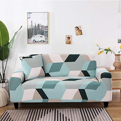 ASCV Geometrisches Muster Elastische Sofabezug Stretch All-Inclusive-Sofabezüge für Wohnzimmer Couchbezug Sofabezüge A4 1-Sitzer