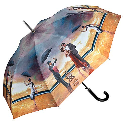 VON LILIENFELD Regenschirm Theo Michael: Hommage to The Singing Butler Auf-Automatik Damen Herren Kunst Stockschirm Stabil