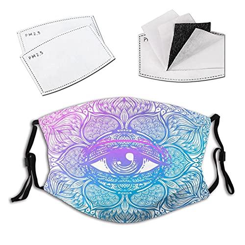 Con Motivos De Paisley Indio, Boho Y Símbolo De Magia, máscara facial reutilizable pasamontañas lavable al aire libre nariz cubierta para hombres y mujeres