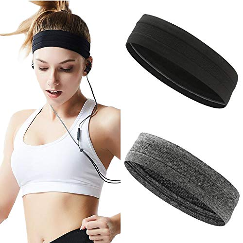 Stouge Sweatband Headbands for Women,Mens Sports Workout Yoga Running Sweat Wicking Stretchy Exercise Fitness Hair Bands