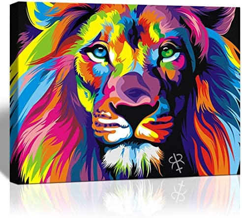 Abstract lion painting _image1