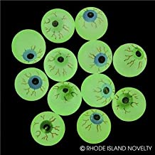 Rhode Island Novelty 32mm 1.25 Inch Glow in The Dark Halloween Eye Balls Pack of 72