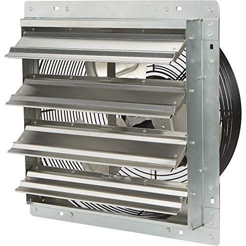 Strongway Totally Enclosed Direct Drive Shutter Exhaust Fan - 16in. 3-Speed, 2,100/1,910/1,790 CFM