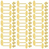 Stainless Steel Earrings Posts Flat Pad (2 Size) with 100 Pairs Earring Backs for Earring Making Findings,...