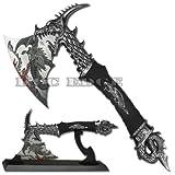 1000Blades 14.5' Fantasy Dragon Axe Knife Sword Dagger w/Stand Home Decor Xmas