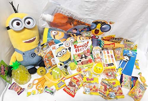 101640 Riesengroße gefüllte Schultüte Minion 50cm Zuckertüte als Geschenk mit Schulbedarf & Spielzeug zum Schulanfang
