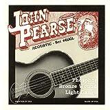 John Pearse Guitar Strings 3 pack Acoustic Phosphor Bronze #600L Light