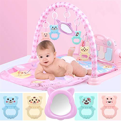 Nuoyi Babyspielmatte und Klavier Activity Music Pad - Fußklavier Babyspielzeug stimulieren die Entwicklung des Babys Mobile Power Early Learning Fitness,Pink