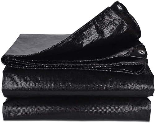 XIAOPING Tente en Toile de bache épaisse bache Noire épaisse (Taille   8x10m)
