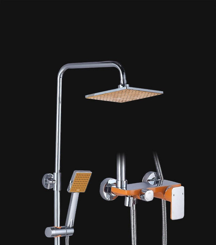 SHUAI Bathroom Equipment SHUAI Shower Set In-Wall Single handle Control Shower Set Paint Flat Third Gear Shower Set