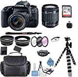 Canon EOS 77D DSLR Camera with EF-S 18-55mm f/3.5-5.6 III Lens + Accessory Bundle +TopKnotch Deals Cloth (International Model)