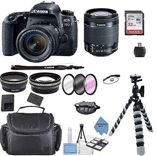 Canon EOS 77D DSLR Camera with EF-S 18-55mm...