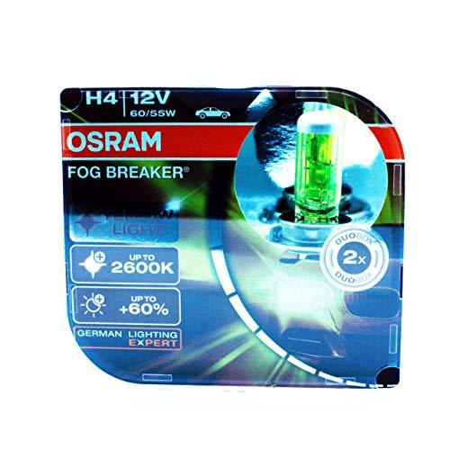 OSRAM 2x H4 P43t FOG BREAKER 55W 62193FBR OFF-ROAD YELLOW LIGHT 2600 K